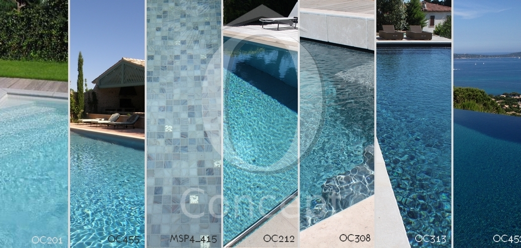 The shades of blue for your mosaic pool