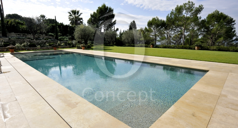 glass mosaic swimming pool o concept