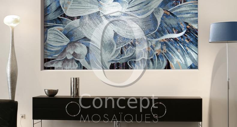 OC_fleur_bleue mur mosaique
