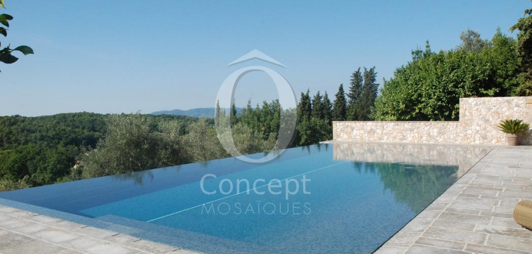 A Mediterranean blue mosaic pool
