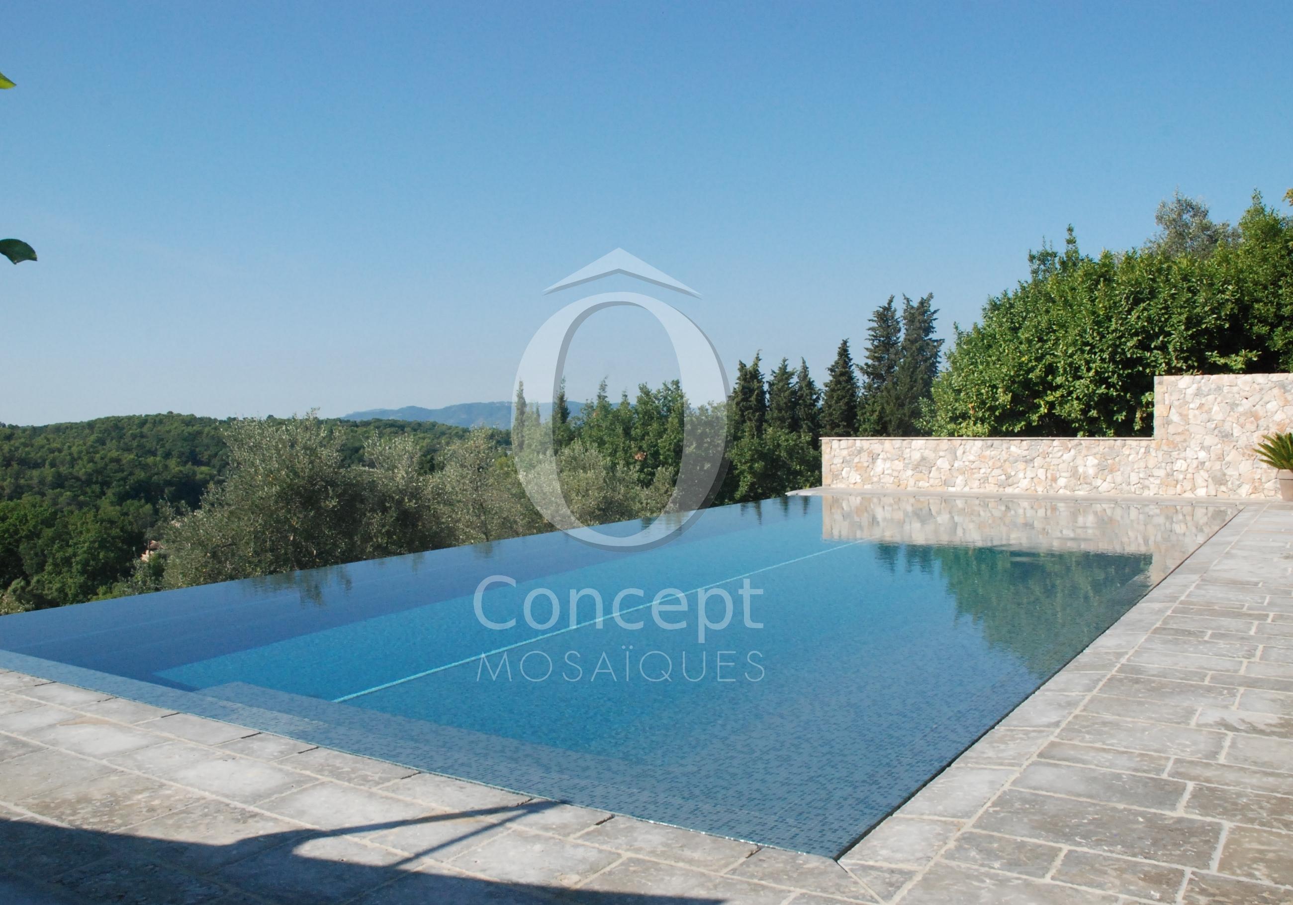 O Concept Mediterranean blue mosaic pool