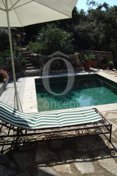 mini pool, basin, mosaic, glass mosaic, spa
