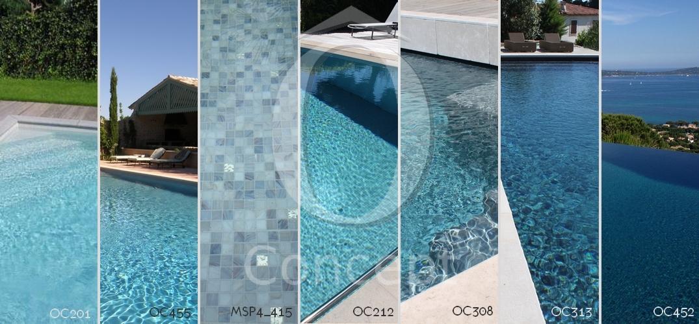 Les nuances de bleu pour votre piscine en mosaïque