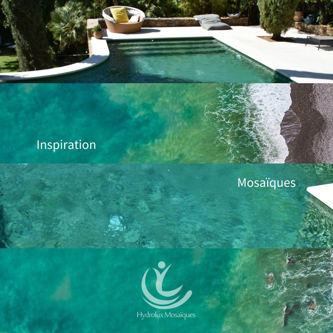 Une eau verte naturelle en mosaïques